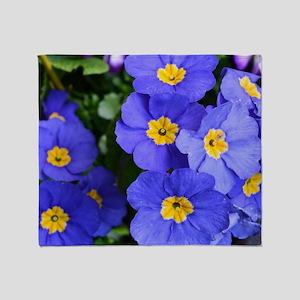 pretty blue garden flowers. floral p Throw Blanket