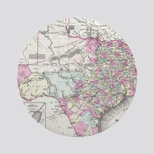 Vintage Map of Texas (1855) Round Ornament