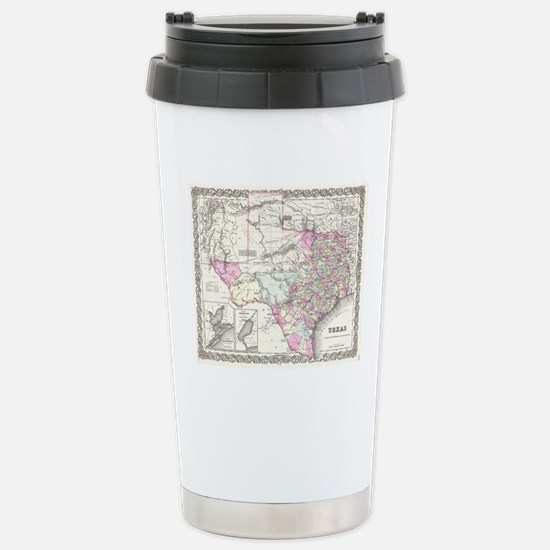 Vintage Map of Texas (1 Stainless Steel Travel Mug
