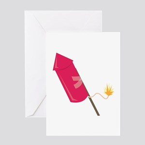 Firework Rocket Greeting Cards