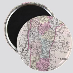 Vintage Map of Vermont (1855) Magnet