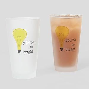 So Bright Drinking Glass