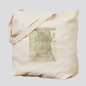 Vintage Map of Chicago (1857) Tote Bag