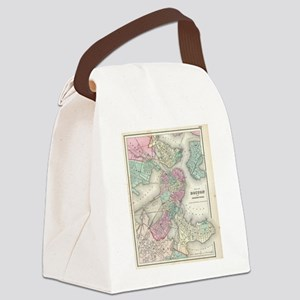 Vintage Map of Boston Harbor (185 Canvas Lunch Bag