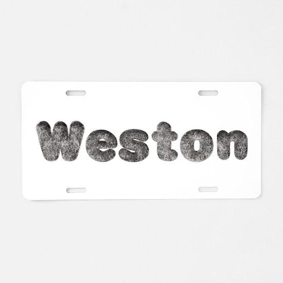 Weston Wolf Aluminum License Plate