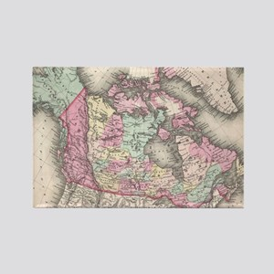 Vintage Map of Canada (1857) Rectangle Magnet