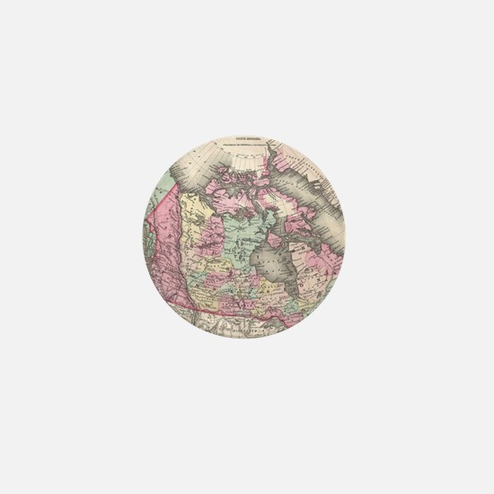 Vintage Map of Canada (1857) Mini Button