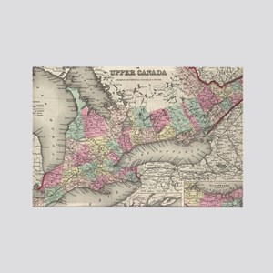 Vintage Map of Ontario (1857) Rectangle Magnet