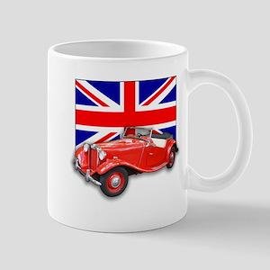 Red MG TD with Union Jack Mug