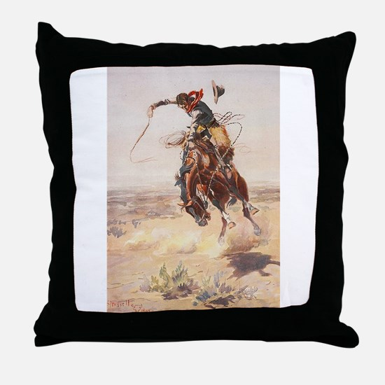 Funny Western Throw Pillow