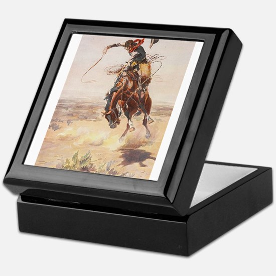 Cute Western Keepsake Box