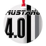 mustang 4 0 Round Ornament