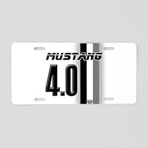 mustang 4 0 Aluminum License Plate