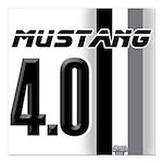mustang 4 0 Square Car Magnet 3