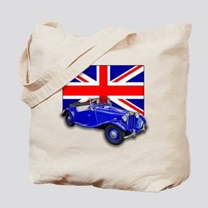Blue MG TD w Union Jack Tote Bag