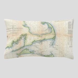 Vintage Map of Cape Cod (1857) Pillow Case