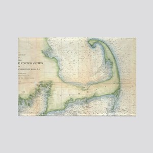Vintage Map of Cape Cod (1857) Rectangle Magnet