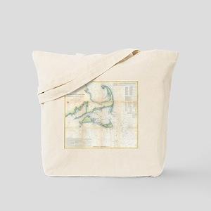 Vintage Map of Cape Cod (1857) Tote Bag