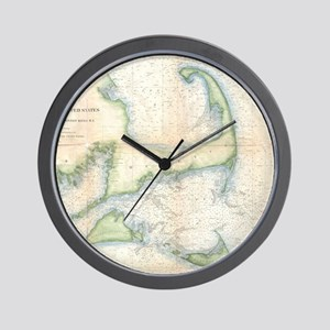 Vintage Map of Cape Cod (1857) Wall Clock