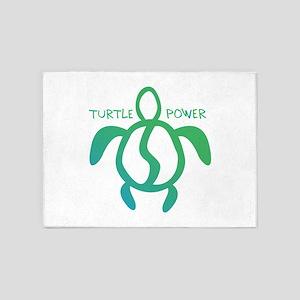Turtle Power 5'x7'Area Rug
