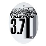 mustang 3 7 Ornament (Oval)