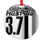 mustang 3 7 Round Ornament