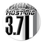 mustang 3 7 Round Car Magnet