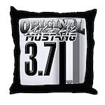 mustang 3 7 Throw Pillow