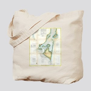 Vintage Map of Cape Fear (1857) Tote Bag