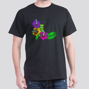 Tropical Hibiscus Dark T-Shirt