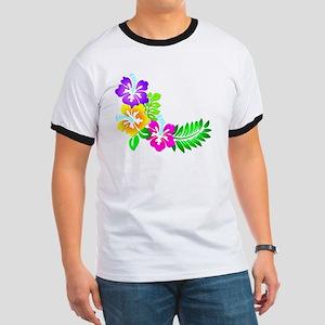 Tropical Hibiscus Ringer T