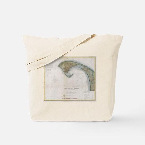Vintage Map of Provincetown Tote Bag