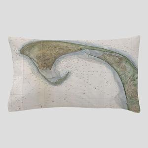 Vintage Map of Provincetown Pillow Case
