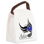 Ada Mascot Logo Canvas Lunch Bag