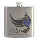Ada Mascot Logo Flask
