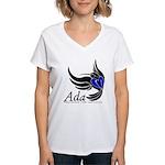 Ada Mascot Logo Women's V-Neck T-Shirt