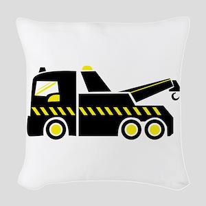 Tow Truck Woven Throw Pillow