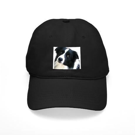 Border Collie Portrait Water Colour Black Cap