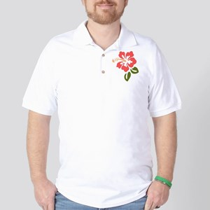Tropical Hibiscus Golf Shirt