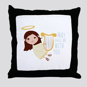 Angels With You Throw Pillow