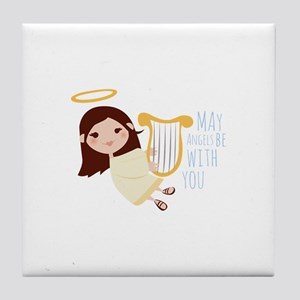 Angels With You Tile Coaster