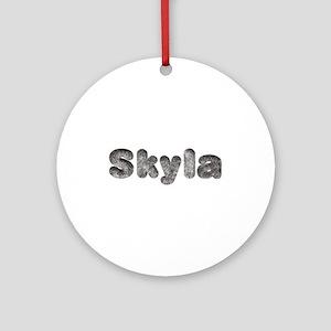 Skyla Wolf Round Ornament