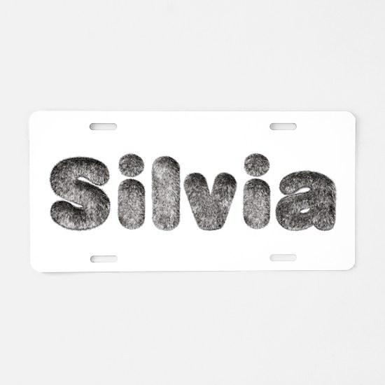 Silvia Wolf Aluminum License Plate