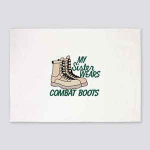 My Mom Wears Combat Boots Area Rugs Cafepress