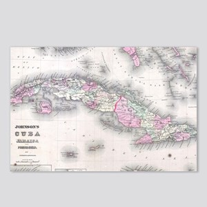 Vintage Map of Cuba (1861 Postcards (Package of 8)