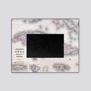 Vintage Map of Cuba (1861) Picture Frame