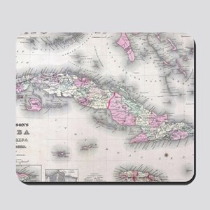Vintage Map of Cuba (1861) Mousepad