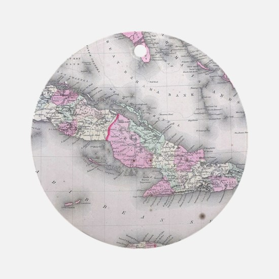 Vintage Map of Cuba (1861) Round Ornament