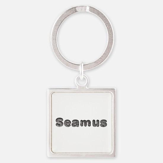 Seamus Wolf Square Keychain