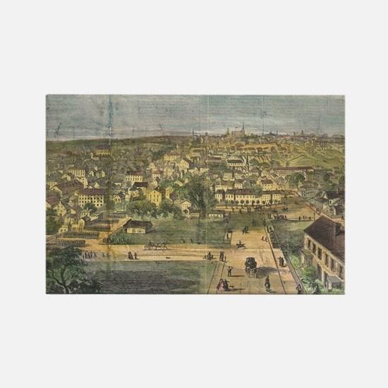 Vintage Pictorial Map of Richmond Rectangle Magnet